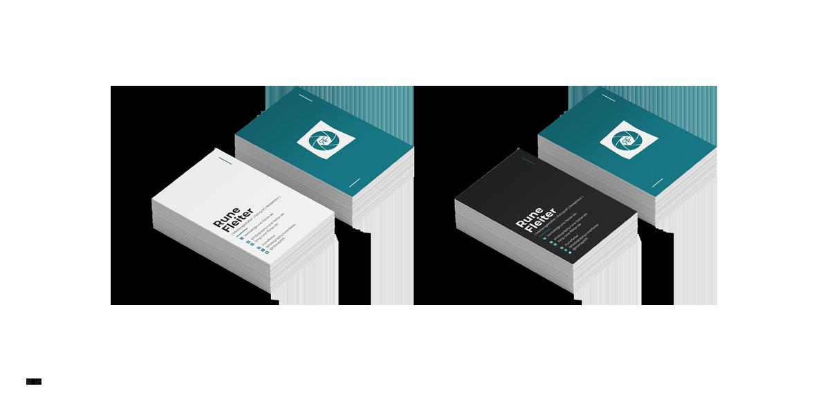 Visitenkarten Design - Rune Fleiter - Medien- & Kommunikationsdesign Portfolio