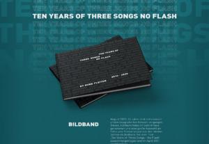 """Konzertfotografie Buch (Bildband) - Rune Fleiter - Medien- & Kommunikationsdesign - """"Ten Years of: Three Songs - No Flash"""" - Veröffentlicht: April 2021"""